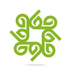 Go green leaf greening symbol icon vector