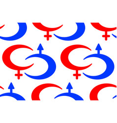 male and female symbols pattern vector image vector image