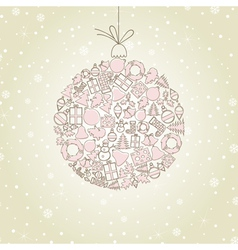 New Year sphere vector image vector image
