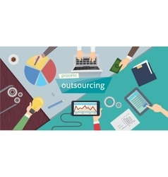 Outsourcing hiring outsource outsourcing digital vector