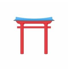 Pagoda arch icon in cartoon style vector image