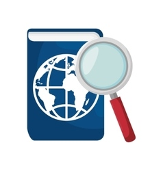passport and magnifying glass vector image vector image