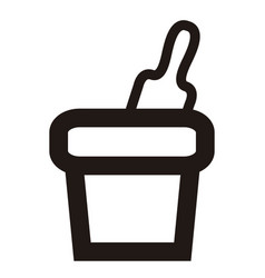 Sand bucket toy outline vector