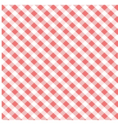 Seamless red plaid pattern vector