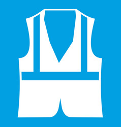 Vest icon white vector