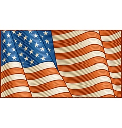 Vintage American flag background vector image vector image