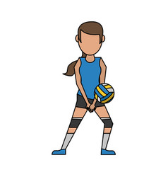 Woman voleyball player vector