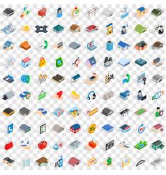 100 deposit icons set isometric 3d style vector