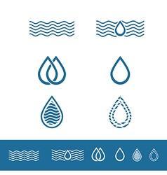 Drop Minimalistic Logo Design Collection vector image