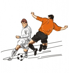 Two players in football vector