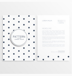 Elegant letterhead design with front and back vector