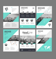 Six trendy brochures templates vector
