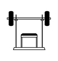 Bench press fitness icon image vector