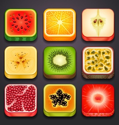 background for the app icons-fruits part 2 vector image