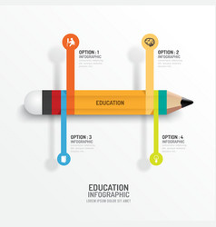 Education pencil infographics creative template vector