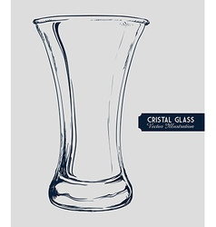 Cristal glass design vector