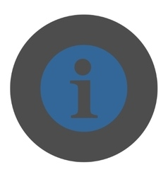 Information flat cobalt and gray colors round vector