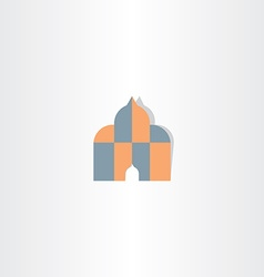 Islam house of god icon vector