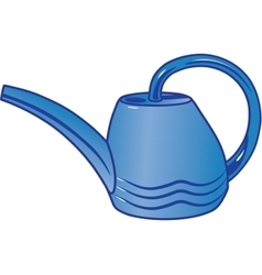 Plastic watering can for watering the garden vector
