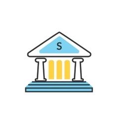 Bank office icon vector