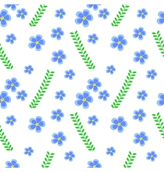 Floral pattern flowers and leaves vector