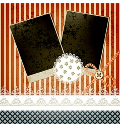 Scrapbook template design vector