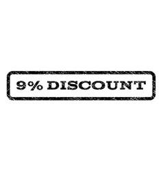 9 percent discount watermark stamp vector