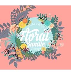Delicate floral banner vector
