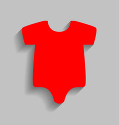 Baby sign red icon with soft vector