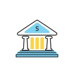 Bank Office Icon vector image vector image
