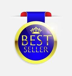 Best seller golden badge vector
