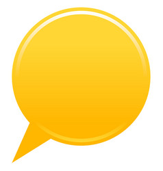 Blank map pin yellow app icon vector