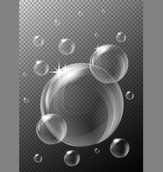 Bubbles on gray background vector