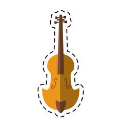 cartoon fiddle classical music instrument vector image