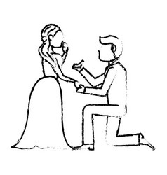 couple wedding love image sketch vector image vector image