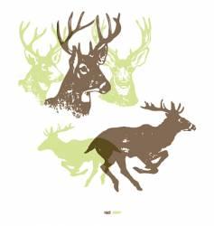 deer running vector image vector image