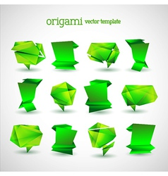 Geometrical Origami Template Set vector image