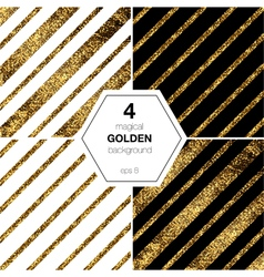 Golden diagonal lines vector image