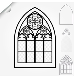 Gothic window vector