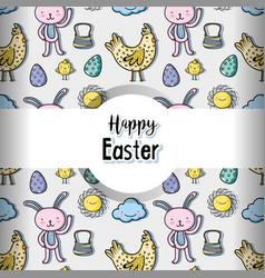 happy easter celebration holiday background vector image