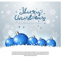 holiday greeting card merry christmas poster with vector image