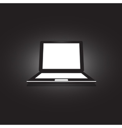 Laptop Icon on unusual background vector image