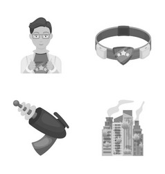 Man young glasses and other web icon in vector