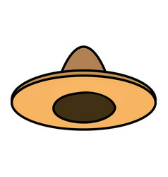 mexican hat isolated icon vector image
