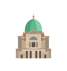 Montreal basilica as a national canadian culture vector
