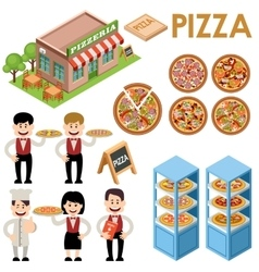 Pizza set vector