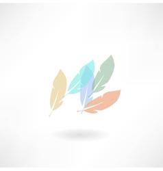 Plumage icon vector