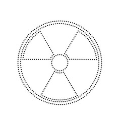 radiation round sign black dotted icon on vector image