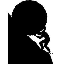 Sisyphus silhouette vector