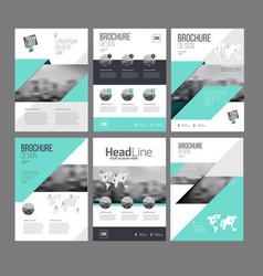 Six trendy brochures templates vector